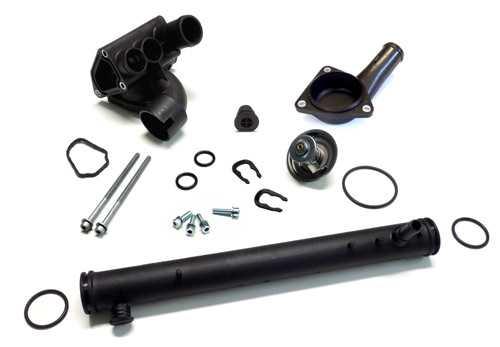 Coolant Pipe - Housing Set - VW Bora, Golf IV Engine V6 AQP, AUE